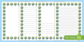 Earth Portrait Page Borders