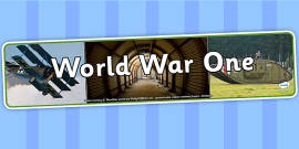 World War One Photo Display Banner