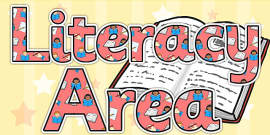 Literacy Area Display Lettering