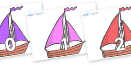 Numbers 0-50 on Sailing Boats to Support Teaching on Where the Wild Things Are