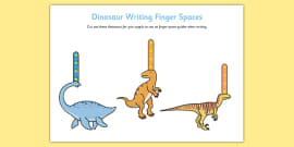 Dinosaur Writing Finger Spacers