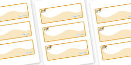 Lion Themed Editable Drawer-Peg-Name Labels (Colourful)