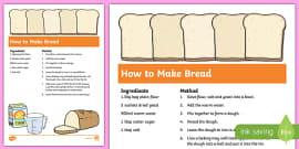 Bread Recipe Sheets