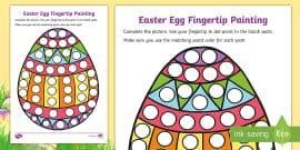* NEW * Easter Egg Fingertip Painting Activity Sheet