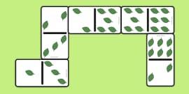 Leaf Dominoes Set