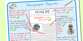 Australia - Text Types Guide Newspaper Report Display Poster