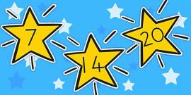 Australia - Numbers 0-30 On Stars