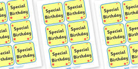 Special Birthday Badge