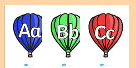 A-Z on Hot Air Balloons (plain)