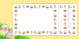 Easter Full Page Borders (Landscape)