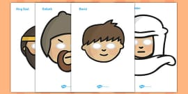 David and Goliath Story Role Play Masks