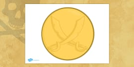 Blank Pirate Coin Template