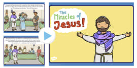 The Miracles of Jesus Bible Stories PowerPoint