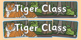 Tiger Themed Classroom Display Banner