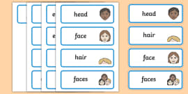 My Face Word Cards