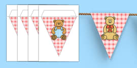 Teddy Bear's Picnic Display Bunting