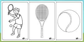 Wimbledon Colouring Sheets