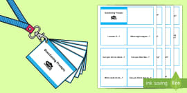 Lanyard-Sized Questioning Prompts for Adults