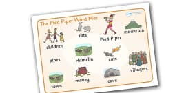 The Pied Piper Word Mat