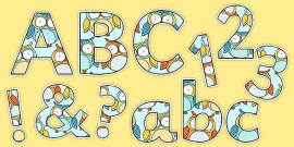 Cute Owl Themed Display Letters and Numbers Pack