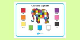 Elmer Colour Word Mat