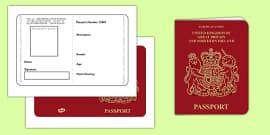 British Passport Template
