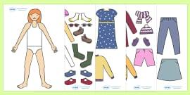 Seasonal Clothing Dressing Up Activity (Girls)