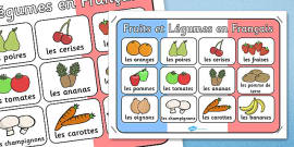 French Fruit and Vegetables Poster
