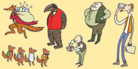 Story Cut Outs to Support Teaching on Fantastic Mr Fox