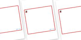 Ladybird Themed Editable Classroom Area Display Sign