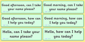 The Office Role Play Customer Help Prompts Cards