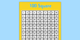 100 Square (Hundred Square)