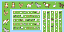 Farm Animal Display Borders