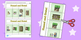 Hansel and Gretel Story Writing Flap Book
