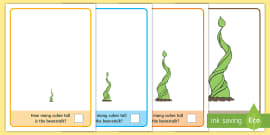 * NEW * Beanstalk Measuring with Cubes Activity Mat