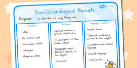 Australia - Features of Non-Chronological Reports Poster