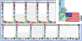America Themed Page Borders