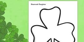 Blank St Patricks Day Shamrock Colouring Sheet