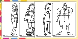 Colouring Pages to Support Teaching on Matilda