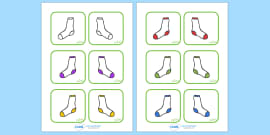 Matching Socks Colour Activity