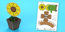 Flower Pot Paper Model