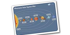 Mnemonic Solar System Mat