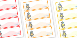 Editable Drawer - Peg - Name Labels (Robots)