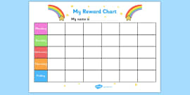 My Reward Chart (Rainbows)