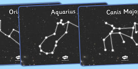 Constellations Display Posters