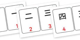 Japanese Numbers Flashcards Symbols