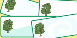 Editable Beech Tree Drawer Peg Name Labels