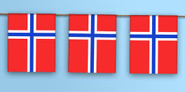 Norway Flag Bunting