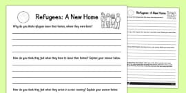 Refugees: A New Home Activity