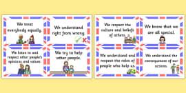 British Value Cards